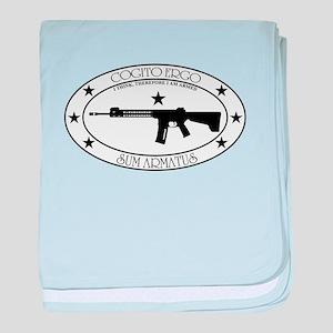 Armed Thinker - W&B Rifle baby blanket