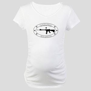 Armed Thinker - W&B Rifle Maternity T-Shirt