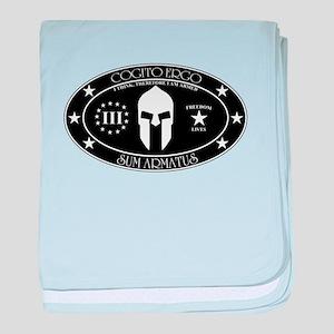 Armed Thinker - III B&W baby blanket