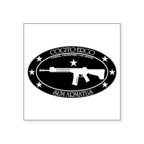 Armed Thinker - Rifle B&W Sticker