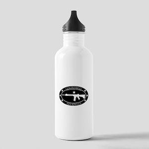 Armed Thinker - Rifle B&W Water Bottle