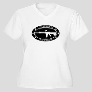 Armed Thinker - Rifle B&W Plus Size T-Shirt