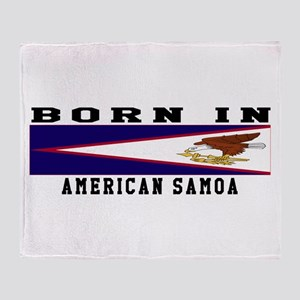 Born In American Samoa Throw Blanket
