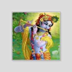 "I Love you Krishna. Square Sticker 3"" x 3"""