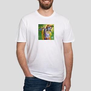 I Love you Krishna. Fitted T-Shirt