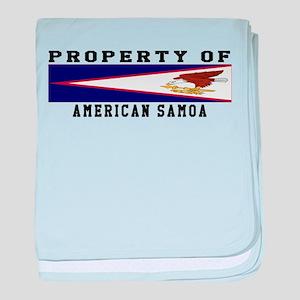 Property Of American Samoa baby blanket