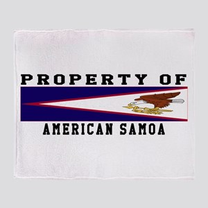 Property Of American Samoa Throw Blanket