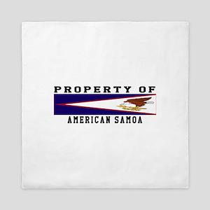 Property Of American Samoa Queen Duvet
