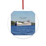 Oliver L. Moore & Menominee Ceramic Round Orna