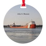 John G. Munson Round Ornament