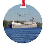 Oliver L. Moore & Menominee Round Ornament