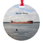 Mesabi Miner Round Ornament