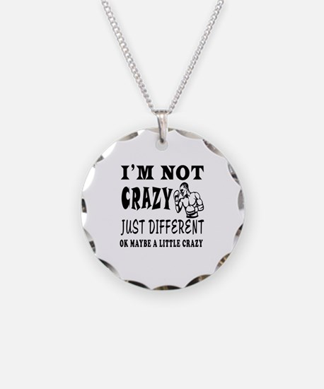 I'm not Crazy just different Boxing Necklace
