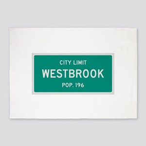 Westbrook, Texas City Limits 5'x7'Area Rug