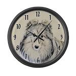 Shetland Sheepdog Large Wall Clock