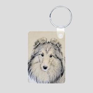 Shetland Sheepdog Aluminum Photo Keychain