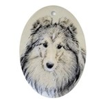 Shetland Sheepdog Oval Ornament