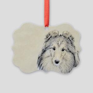 Shetland Sheepdog Picture Ornament