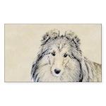 Shetland Sheepdog Sticker (Rectangle 50 pk)