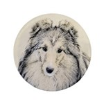 Shetland Sheepdog Button