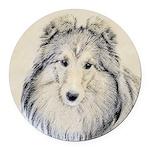 Shetland Sheepdog Round Car Magnet