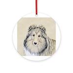 Shetland Sheepdog Round Ornament