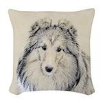 Shetland Sheepdog Woven Throw Pillow