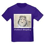 Shetland Sheepdog Kids Dark T-Shirt