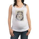 Shetland Sheepdog Maternity Tank Top