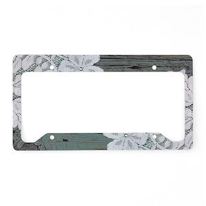 Wood Grain License Plate Frames - CafePress