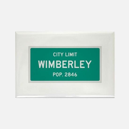 Wimberley, Texas City Limits Rectangle Magnet