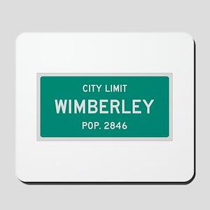 Wimberley, Texas City Limits Mousepad