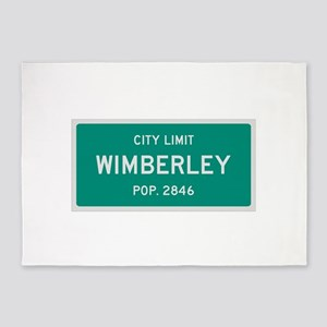 Wimberley, Texas City Limits 5'x7'Area Rug