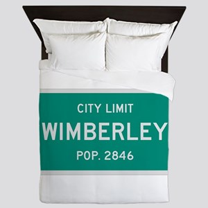 Wimberley, Texas City Limits Queen Duvet