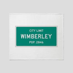Wimberley, Texas City Limits Throw Blanket