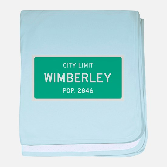 Wimberley, Texas City Limits baby blanket