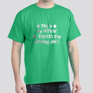 Official St. Patrick's Day Drinking Shirt Dark T-S