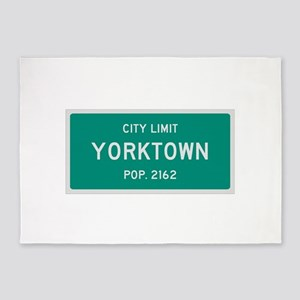 Yorktown, Texas City Limits 5'x7'Area Rug