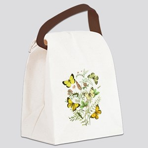 French Butterflies Canvas Lunch Bag