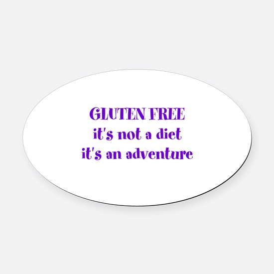 GLUTEN FREE adventure Oval Car Magnet