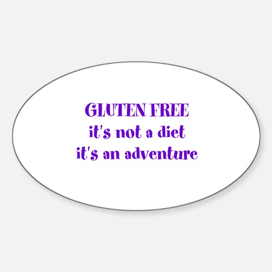 GLUTEN FREE adventure Sticker (Oval)