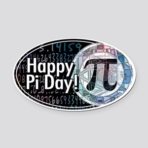 Happy Pi Day Oval Oval Car Magnet