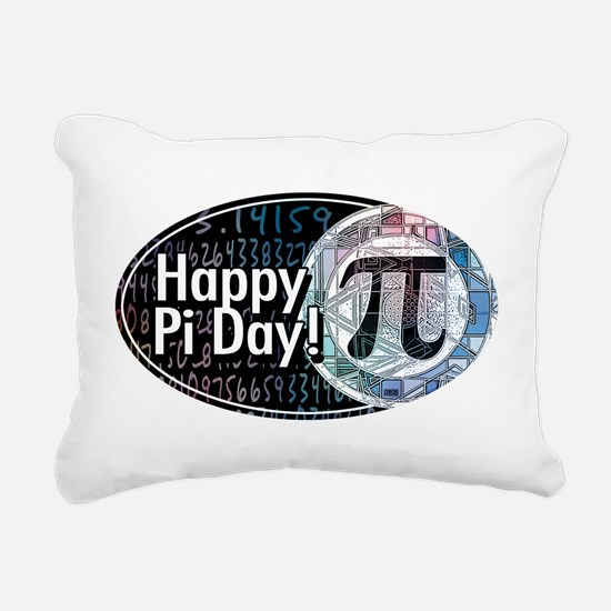 Happy Pi Day Oval Rectangular Canvas Pillow