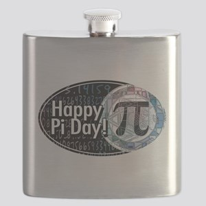 Happy Pi Day Oval Flask