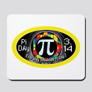 Pi Day 3.14 Yellow Ring Mousepad