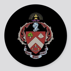 Triangle Fraternity Crest Round Car Magnet