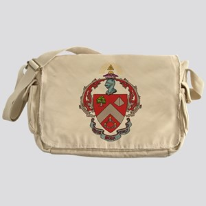 Triangle Fraternity Crest Messenger Bag