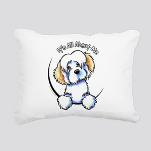 Piebald Havanese IAAM Rectangular Canvas Pillow