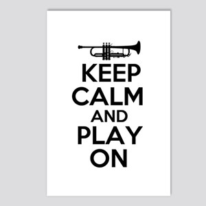Keep Calm and Play On Trumpet Postcards (Package o