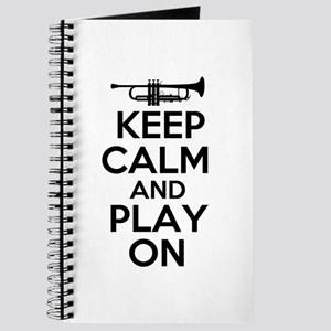 Keep Calm and Play On Trumpet Journal